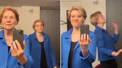 Elizabeth Warren haalt beste danspasjes boven in virale video
