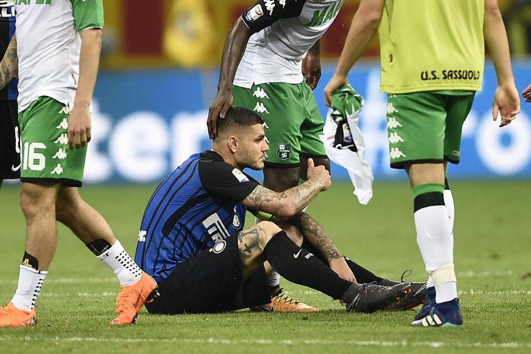 Ontgoocheling bij Mauro Icardi.