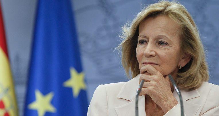 Volgens de Spaanse minister van Financiën, Elena Salgado, is financiële hulp 'nog lang niet nodig'. Beeld EPA