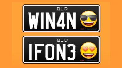 In Australië kan je voortaan emoji op gepersonaliseerde nummerplaat zetten