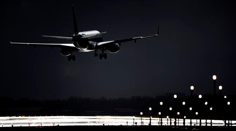 Een vliegtuig vertrekt van Schiphol. Beeld ANP