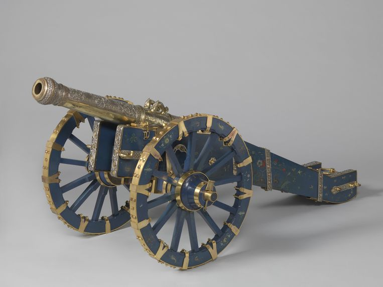 Het kanon van de koning van Kandy, dat Nederland in 1765 buit maakte tijdens een militaire campagne. Beeld Rijksmuseum