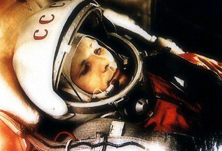 Joeri Gagarin.'Het nieuws over de allereerste ruimtereiziger was een sensatie, het begin van een nieuw tijdperk.' Beeld Getty Images