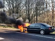 A58 tussen Tilburg-Centrum en Oirschot weer vrij na in brand staande auto