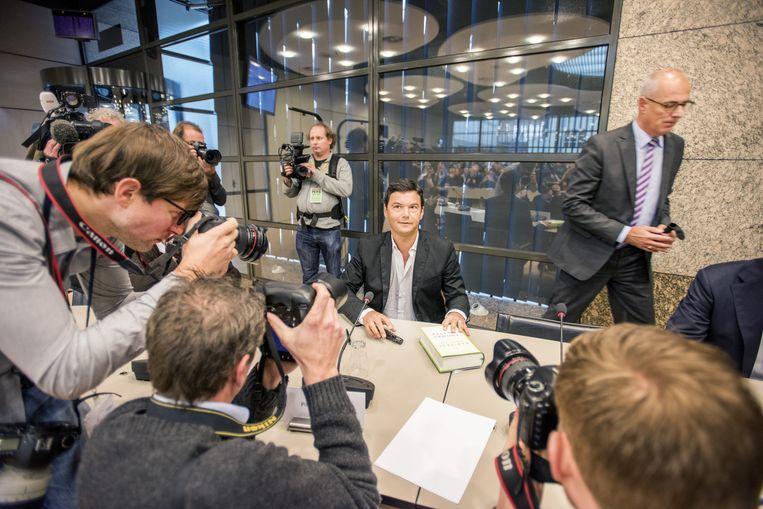 Piketty in de Tweede Kamer. Beeld Raymond Rutting