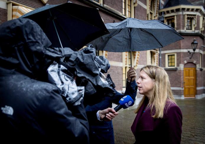 Carola Schouten, minister van Landbouw, Natuur en Voedselkwaliteit bij aankomst op het Binnenhof voor de wekelijkse ministerraad. ANP KOEN VAN WEEL