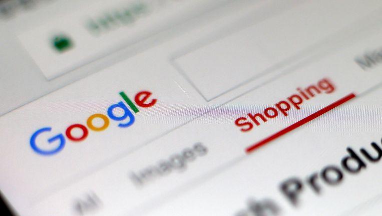 Het logo van Google Shopping. Beeld epa