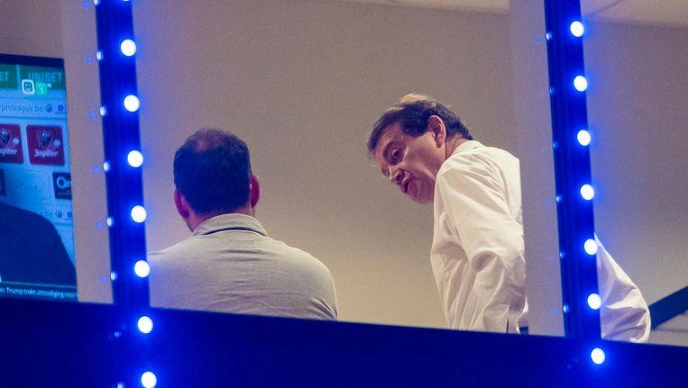 Crisisoverleg: Michel Louwagie in de Ghelamco Arena na het nieuwe verlies van de Buffalo's.
