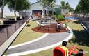 Artist's impression van de Skills Garden die naast De Schelp komt te liggen