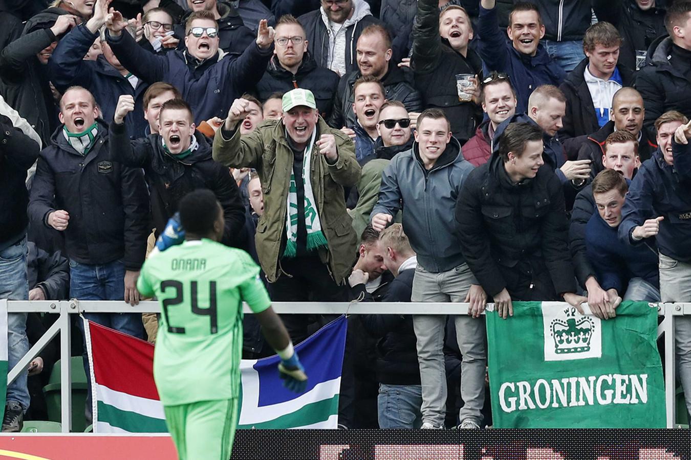 Ajax-keeper André Onana ging lelijk in de fout tegen FC Groningen in 2017.