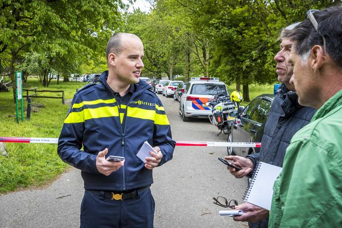 De politie doet onderzoek op de Brunssummerheide.