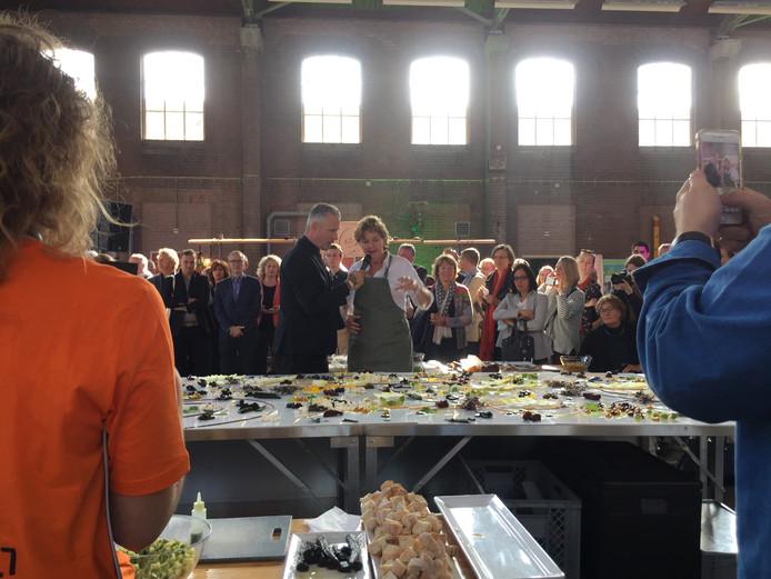 Workshop tijdens wereldvoedseldag in Ede.
