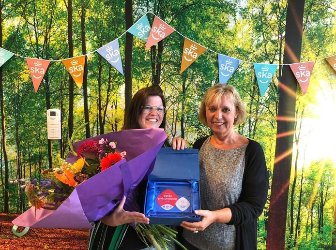 """Linda van Dijk (links): ,,We vinden het belangrijk dat studenten bij ons leren in de praktijk."""""""