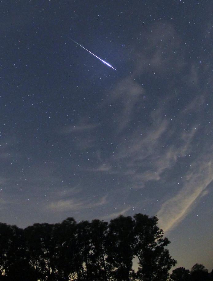 Vallende ster aan de hemel