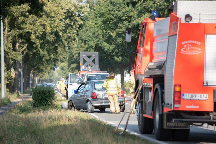 Het ongeval gebeurde op de Berchemweg.