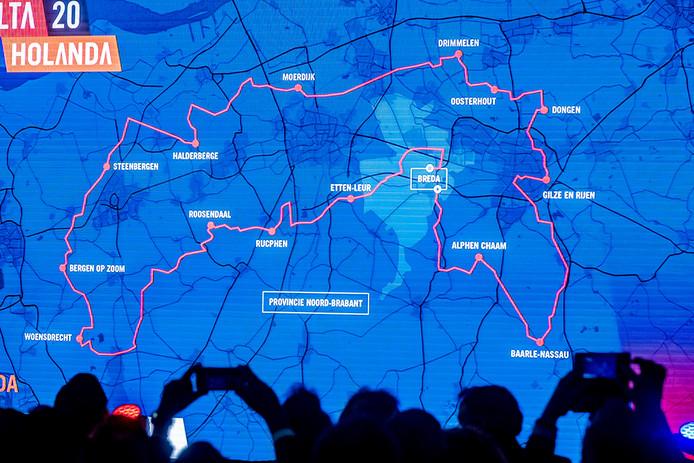 Zo ziet de route van de derde Vuelta-etappe door West-Brabant eruit.
