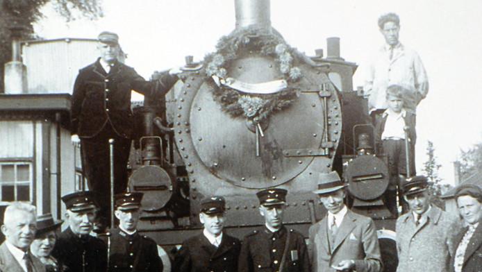 De locomotief op de lijn Gouda - Schoonhoven, La Désiré, decennia geleden