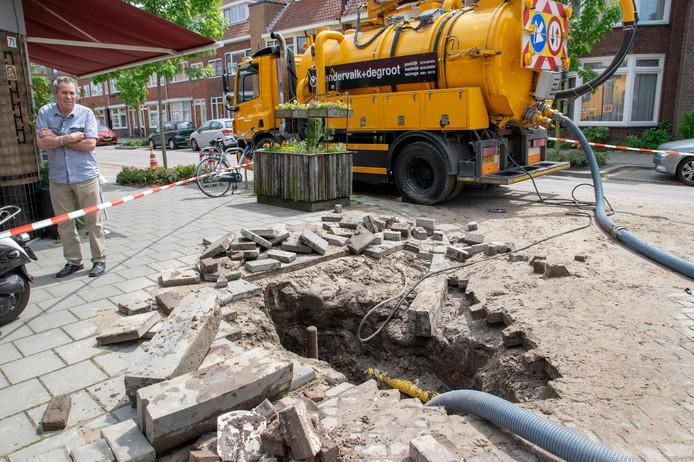 Sinkhole in Tilburg.