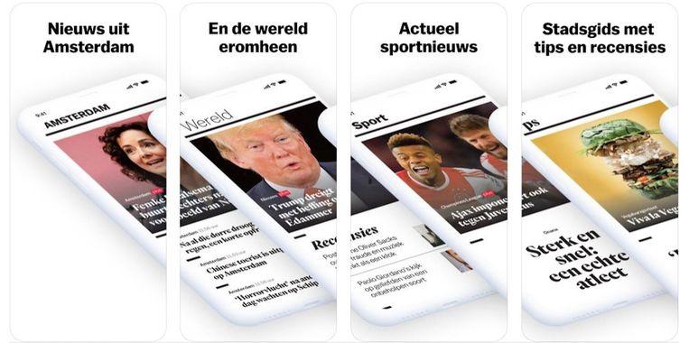 De app van Het Parool is vernieuwd en gratis te updaten Beeld -