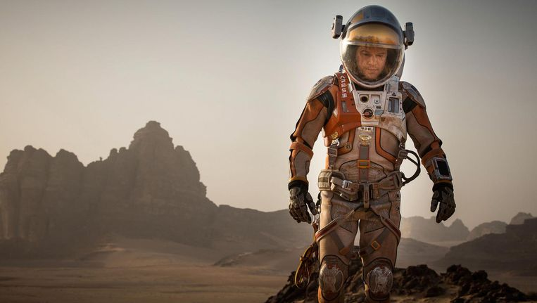 Matt Damon in The Martian. Beeld