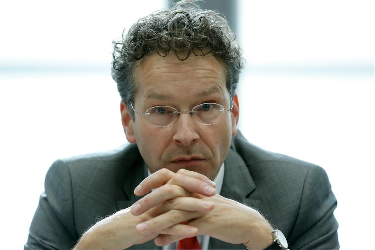 Een bedrukte eurogroepvoorzitter Jeroen Dijsselbloem.