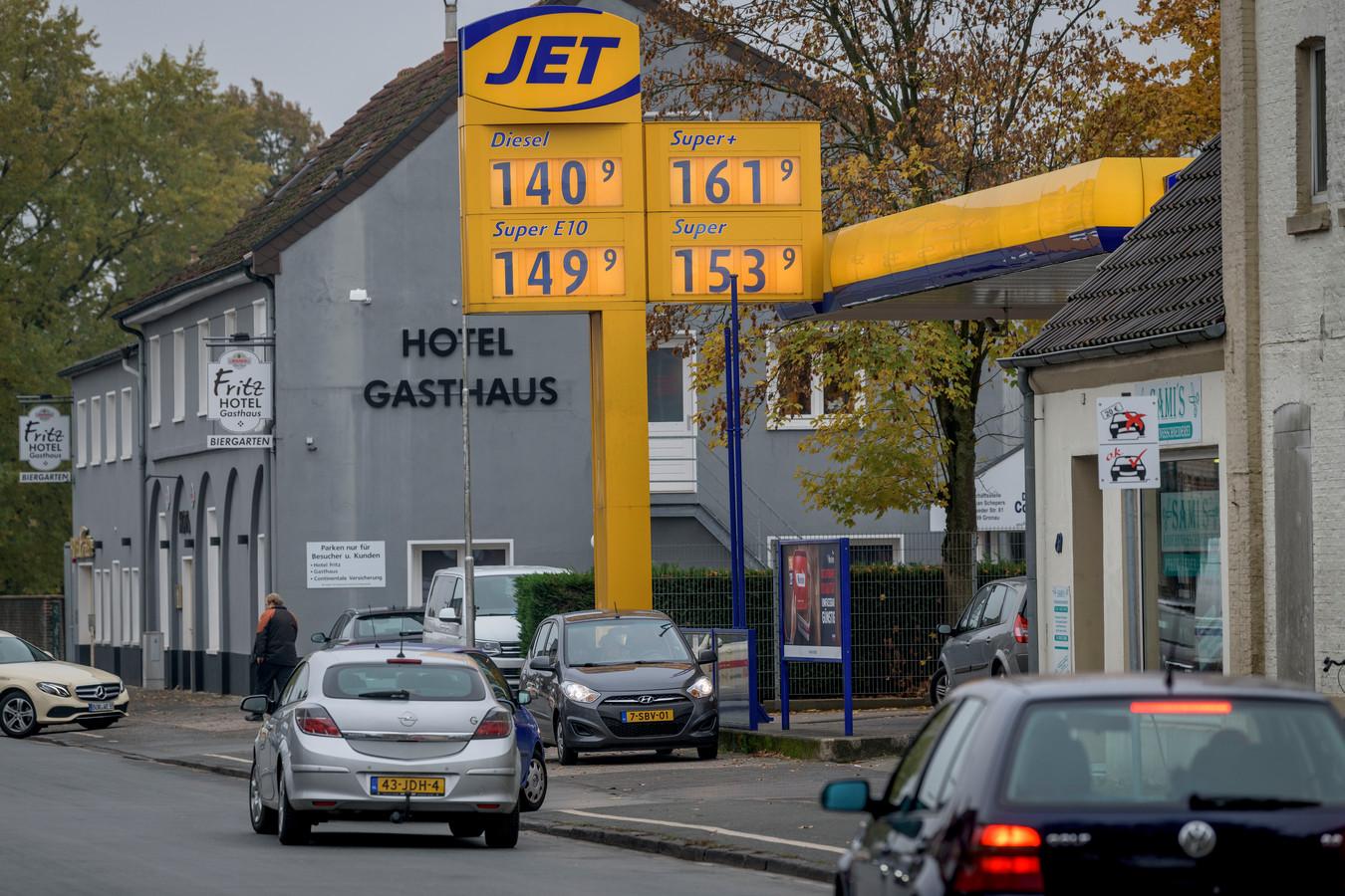 Het tankstation in Duitsland