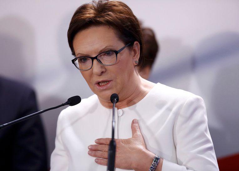 Poolse premier Ewa Kopacz. Beeld reuters
