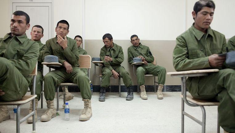 Afghaanse agenten in opleiding in Kunduz. Foto: Joel van Houdt. Beeld