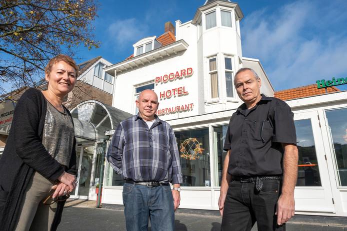 Jet Kokelaar, Anthon Langeveld en René van Oldenbeek verlengen de roem van het Vlissingse Hotel Restaurant Piccard.