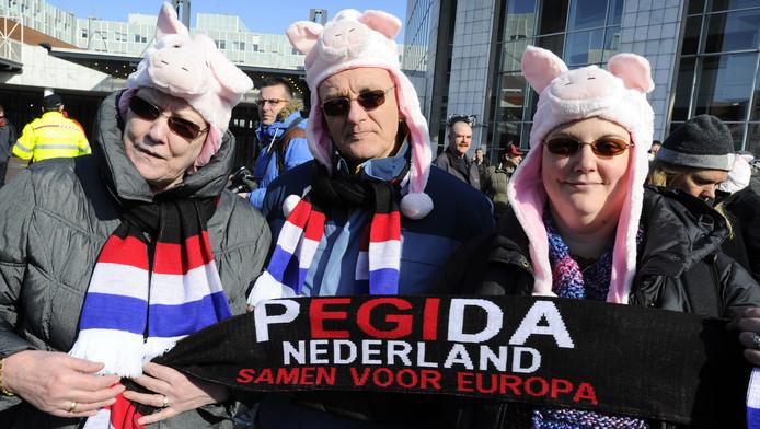 Pegida in Amsterdam.