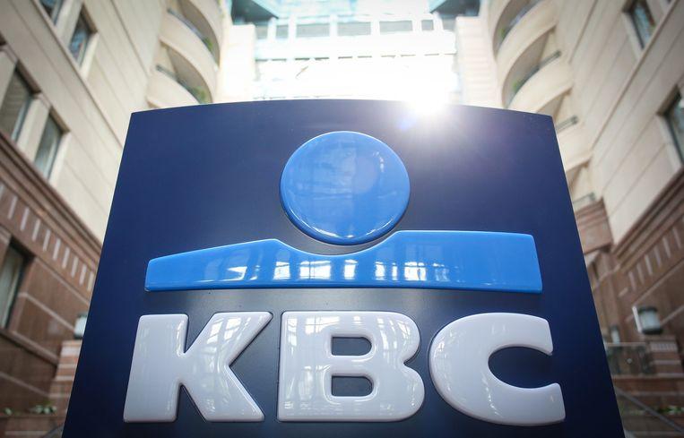 Het logo van KBC.