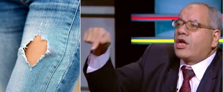 Nabih al-Wahsh tijdens een verhit debat op de Egyptische televisie