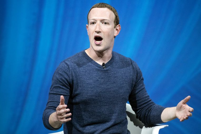 Mark Zuckerberg, oprichter en CEO van Facebook. Beeld EPA