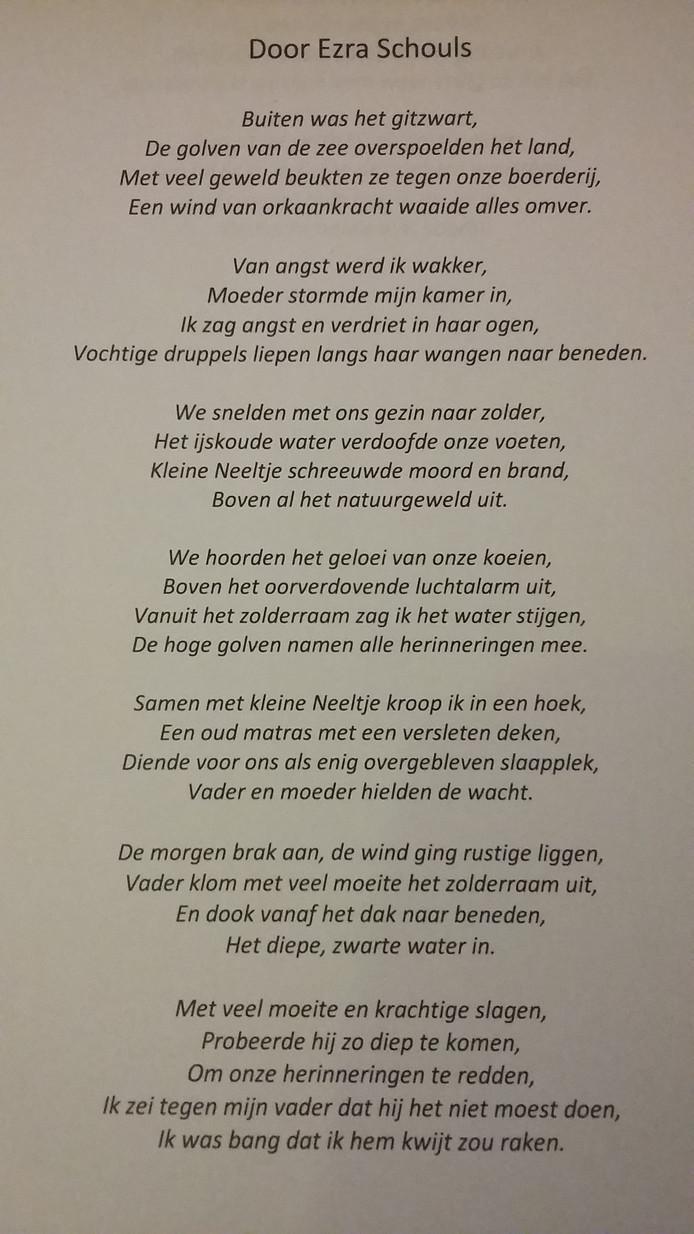 Ezra Leest Gedicht Voor Bij Nationale Herdenking Ramp Home