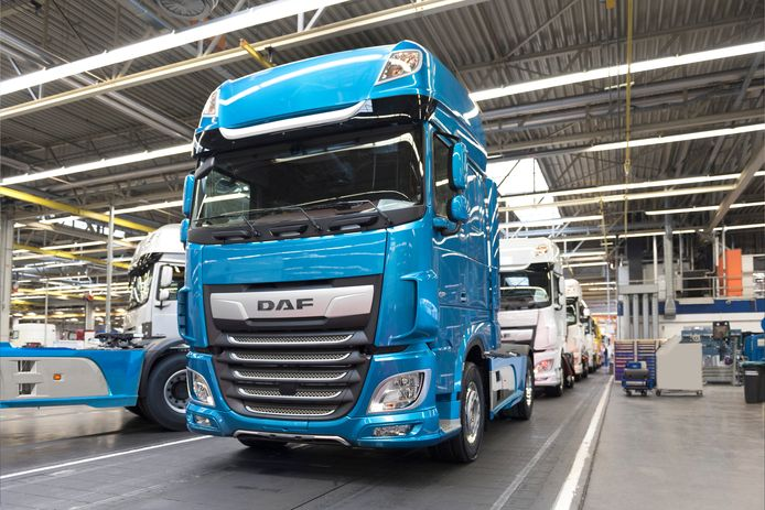 DAF productie in Eindhoven.