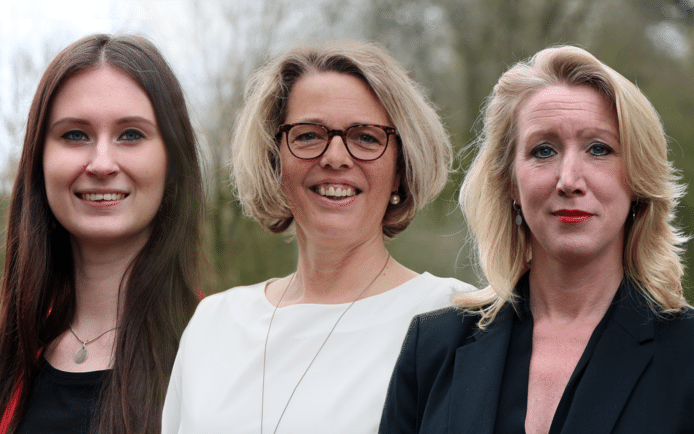 De drie finalisten voor de titel Secretaresse van het Jaar 2019.