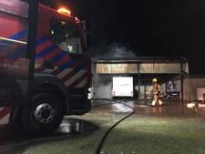Brand in schuur met asbest in Melissant