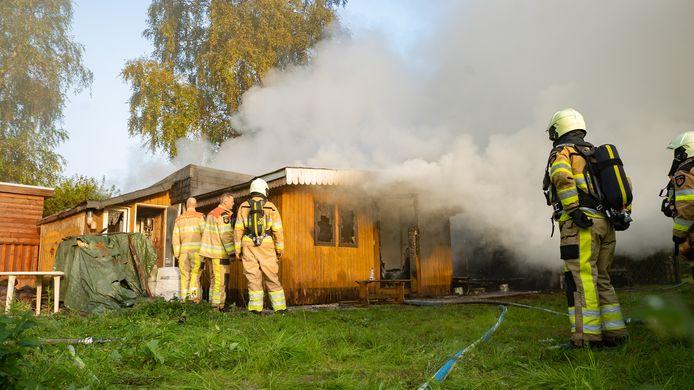 Brand in een chalet op de camping in Fortmond.