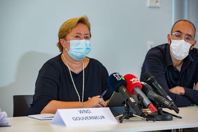 Anne Martens, gouverneure de Flandre occidentale par intérim.