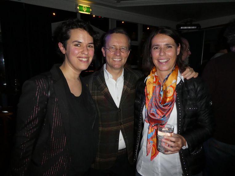 Raadsleden Tirza de Fockert (GroenLinks), Hendrik Jan Biemond (PvdA) en Marianne Poot (VVD). Beeld Hans van der Beek