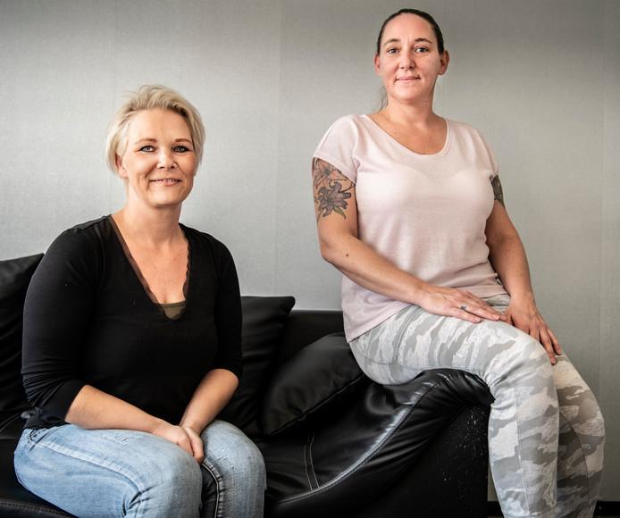 Suzanne van Zutphen links en Amada Erkens rechts .