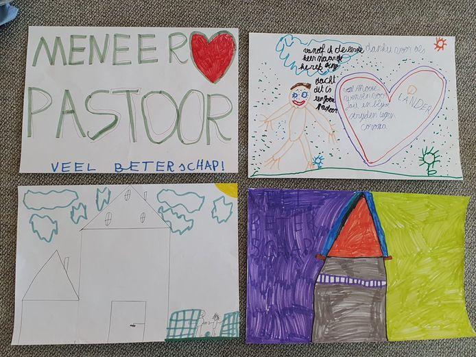 Enkele tekeningen die de leerlingen voor Vital maakten.