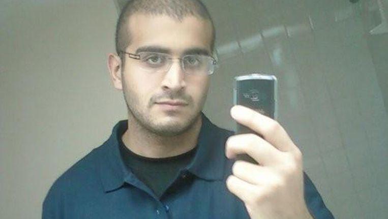 Schutter Omar Mateen (29) op beelden die zijn vrijgegeven door sociale netwerksite MySpace. Beeld reuters