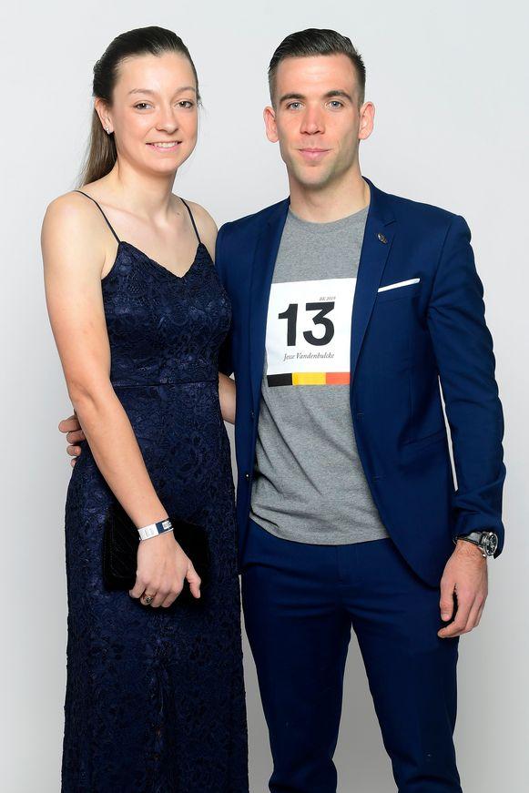 Belgisch kampioene Jesse Vandenbulcke en haar partner Giovanni