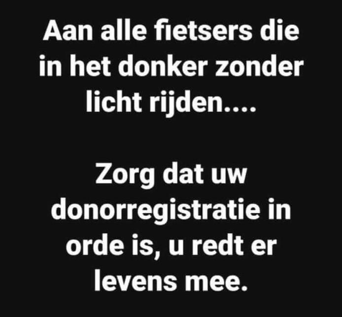 De tekst van de politie Nijmegen-Zuid op social media.