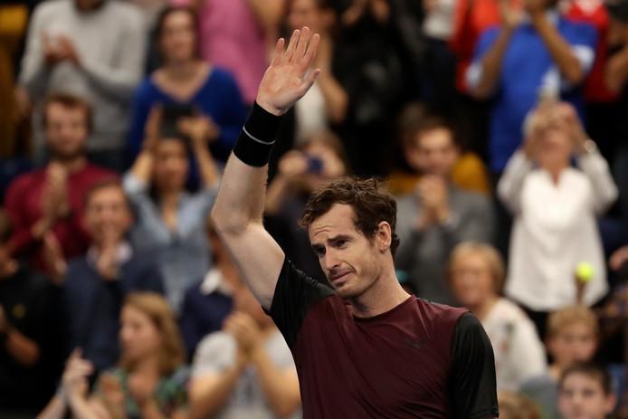Andy Murray na het winnen van de titel.