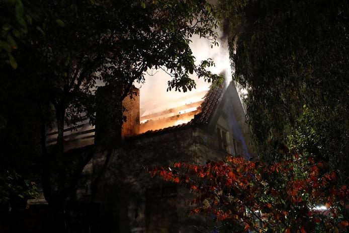 Brand in woning op de Bleeck in Waalre
