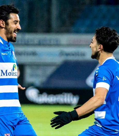 Supersub Reza redt punt voor PEC Zwolle tegen Heracles