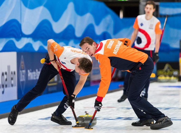 Nederland in actie tegen Schotland op het Europees kampioenschap, afgelopen november Beeld Eakin Howard / WCF