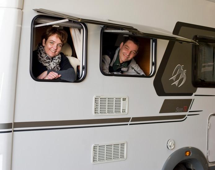 De interesse voor campers groeit. De Camperbeurs in Hardenberg profiteert ervan. Er komt dit jaar een extra beurshal bij. foto Mechteld Jansen